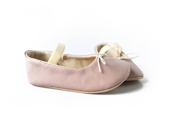 Baby girl ballerina shoes Dusty pink