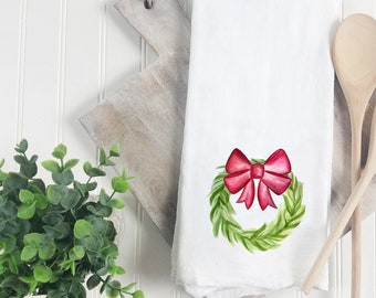 Christmas Tea Towel ~ Personalized Christmas Towel ~ Hostess gift, Christmas gift, kitchen towel