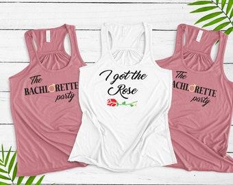 The Bachelorette themed bridal party shirts ~ I got the Rose ~ The Bachelorette Party