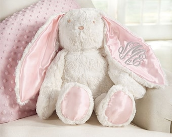 6ab2e6bd809 Monogrammed Easter Bunny ~ Plush monogrammed bunny ~ Mud pie Easter