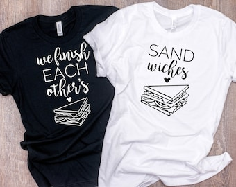 We finish each other's sandwiches shirts ~TWO shirts~ Frozen couples shirt ~ Family disney shirts