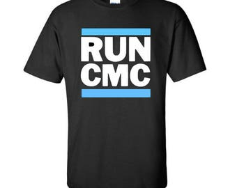36ab65b08 Carolina Panthers shirt ~ Christian McCaffrey is gonna be a Panther ~ RUN  CMC
