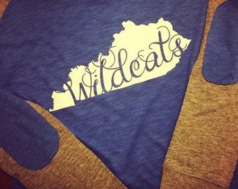 Kentucky wildcat raglan ~ kentucky tee