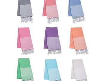 Monogrammed Turkish Beach towel ~ Monogrammed Beach blanket ~ Peshtemal