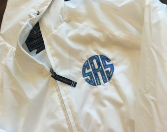 Lilly Pulitzer Monogrammed Rain Pullover~ Monogrammed Rain Jacket ~ Charles River Rain Pullover