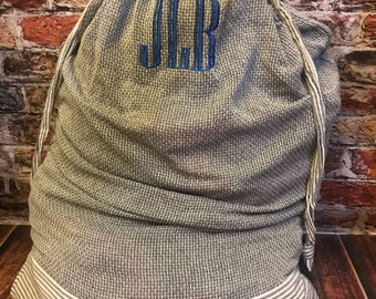 Monogrammed laundry bag ~ graduation gift ~ groomsman gift ~ off to college