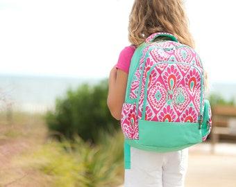 Monogrammed Beachy Keen Backpack ~ Monogrammed girls backpack ~ Back to school backpack