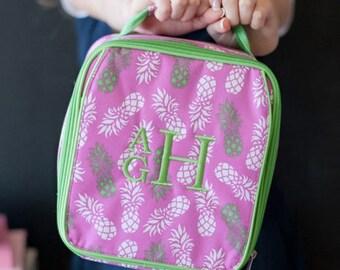 Monogrammed Lunch Box ~ Pineapple Lunch box ~ Custom Girls lunch box