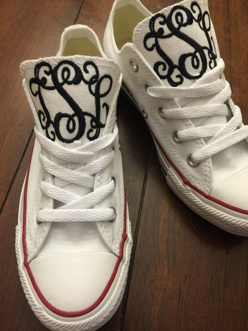 2cefdcd44a2a8f Monogrammed Converse Chuck Taylors LOW TOP