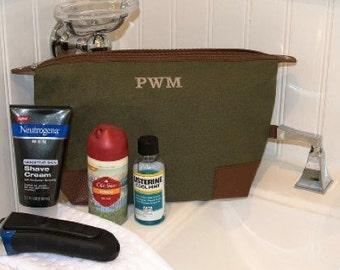 Personalized Mens Dopp kit - Monogrammed Dopp Kit - Monogrammed toiletry bag
