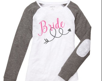 Bride Shirt ~ Bridal Party Shirt ~ Bride Raglan ~ Bachelorette Party Shirt