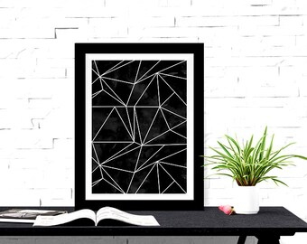 Geometric Design Abstract Lines 8x10 inch Poster Print-Office Decor, Home Decor - P1215