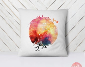Zodiac Sign Leo Horoscope Constellation – Galaxy - Throw Pillow Cover Living Room, Pillow Cover Decorative, Pillow Case Comfy - TPC1174