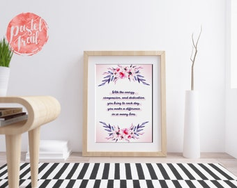 You Make A Difference In So Many Lives, Frontliner, Doctor, Nurse, Hospital Staff, 8x10 16x20 inch Poster Print - P1228