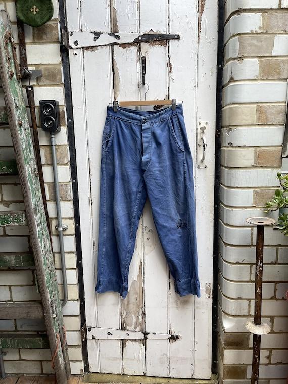 Size M W34 Vintage French trousers JY6 Work-wear Pants