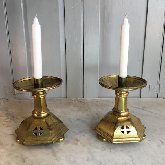datazione candelabri in ottone anticato