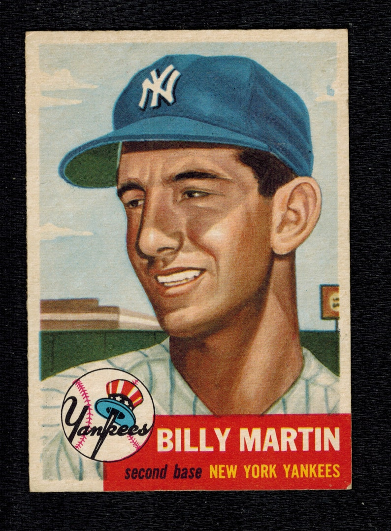 1953 Topps Baseball 86 Billy Martin New York Yankees Excellent Mint Condition Free Shipping