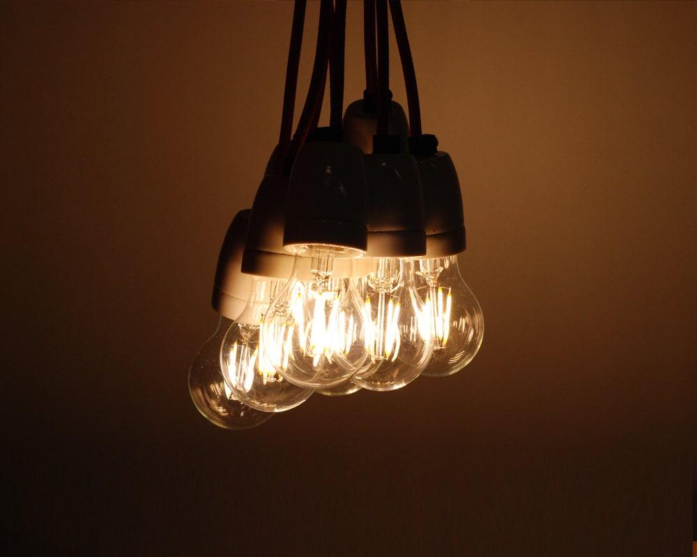 4w led gl hlampe vintage edison gl hbirne e27 es schraube etsy. Black Bedroom Furniture Sets. Home Design Ideas