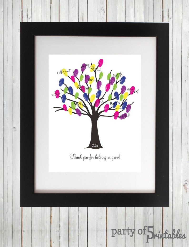 Thank You For Helping Us Grow 2019 Teachers Gift Fingerprint Etsy