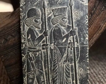 Persian Historical Babylon Assyrian Desktop Plaque Ornament King Cyrus Koroush