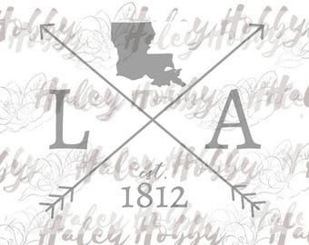 Louisiana shirt DXF SVG cut file silhouette digital file