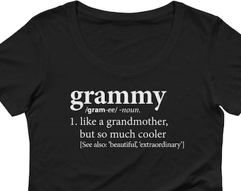 Grammy Shirt | Definition of a Grandmother Tee Shirt | Birthday, New Pregnancy Reveal Announcement T-Shirt | Mother's Day, Grammy Cute Gift