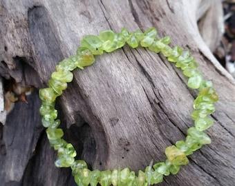 Peridot Bracelet, Natural peridot beaded bracelet, crystal healing bracelet stackable gemstone bracelet August birthstone. Leo zodiac Leo