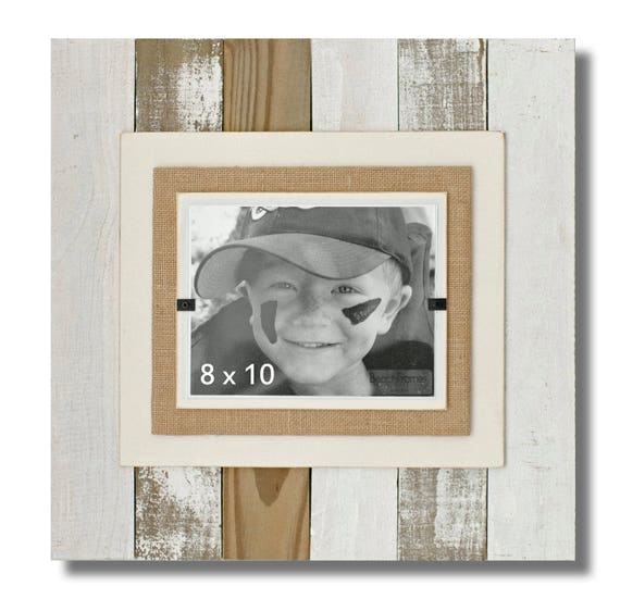 Cape Cod Style Reclaimed Wood White Washed Picture Frame With Etsy