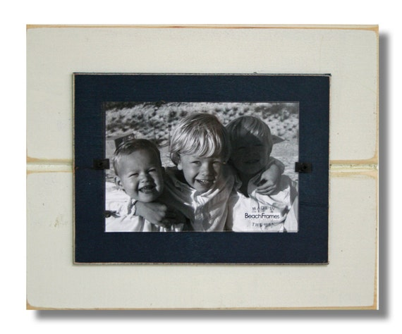 Distressed Wood Picture Frame Beadboard Style Pine Frame Etsy