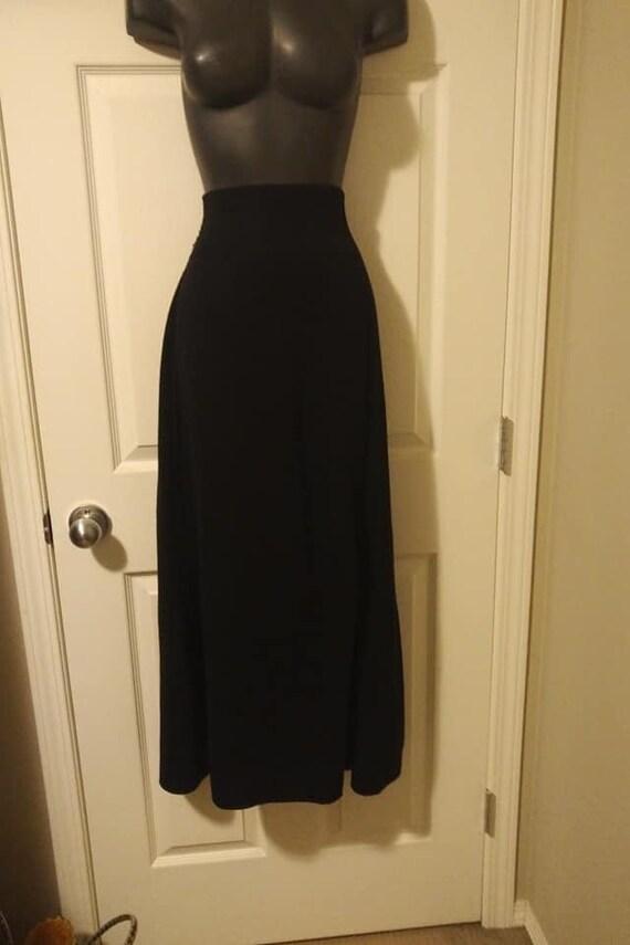 SARAH PACINI Wool Blend Straight Split Maxi Skirt