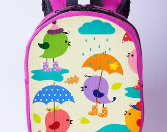3c5a604266 Chicken print backpack Children backpack Small canvas backpack Toddler  backpack Pink backpack Mini backpack Girls preschool backpack