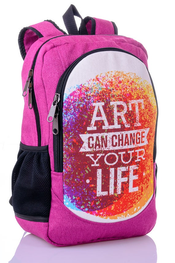 Art backpack Canvas backpack rucksack Fabric