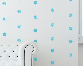 44 X Snowflake Pattern Wall Decal, Holiday Wall Stickers, Removable