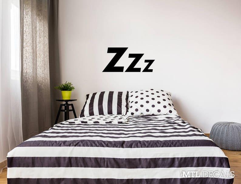 bedroom wall decal zzz sleep wall sticker home decor | etsy