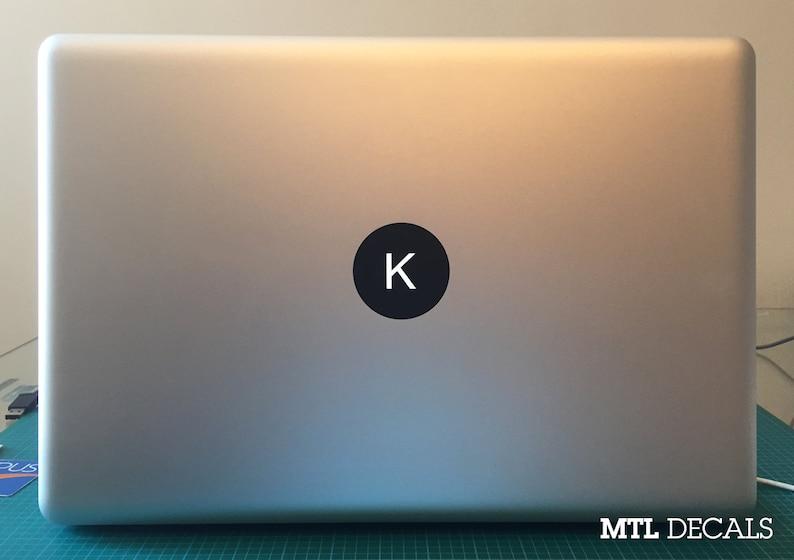 Custom Macbook Monogram Decal / Macbook Pro Sticker image 0