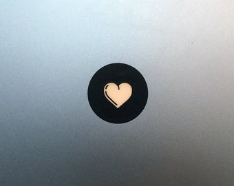 Heart Macbook Decal / Macbook Pro Love Sticker