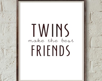 Twins Quote Etsy