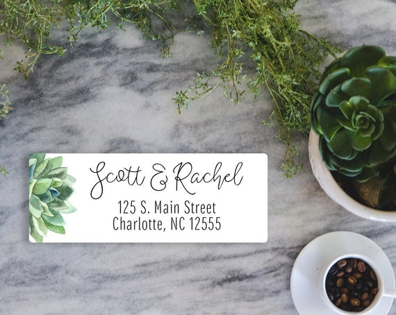 photograph relating to Printable Labels for Wedding Invitations referred to as Succulent Cover Labels printable Marriage Invites Return deal with labels Customized reward Electronic Obtain Succulent label