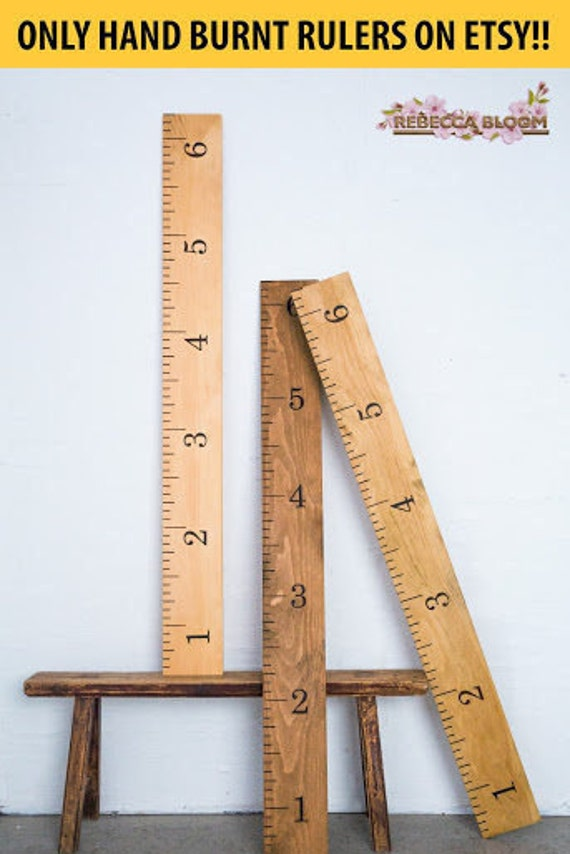 Growth Chart Ruler Growth Ruler Wooden Growth Chart Wood Etsy