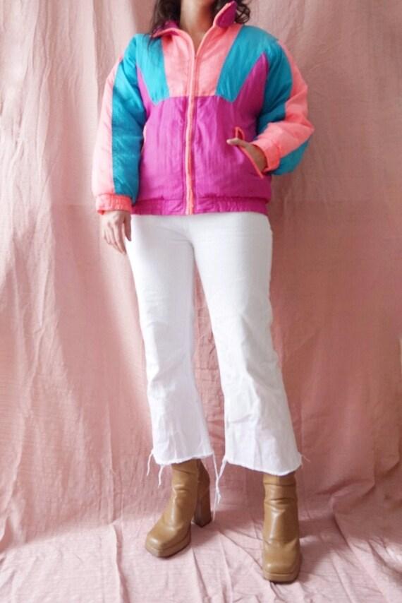 90s Woodwards Neon Jacket Size Medium