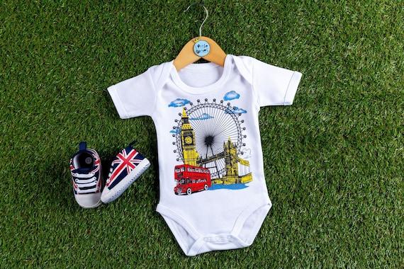 London Souvenir New Baby Toddler Vest Newborn Gift Bodysuit Beatles