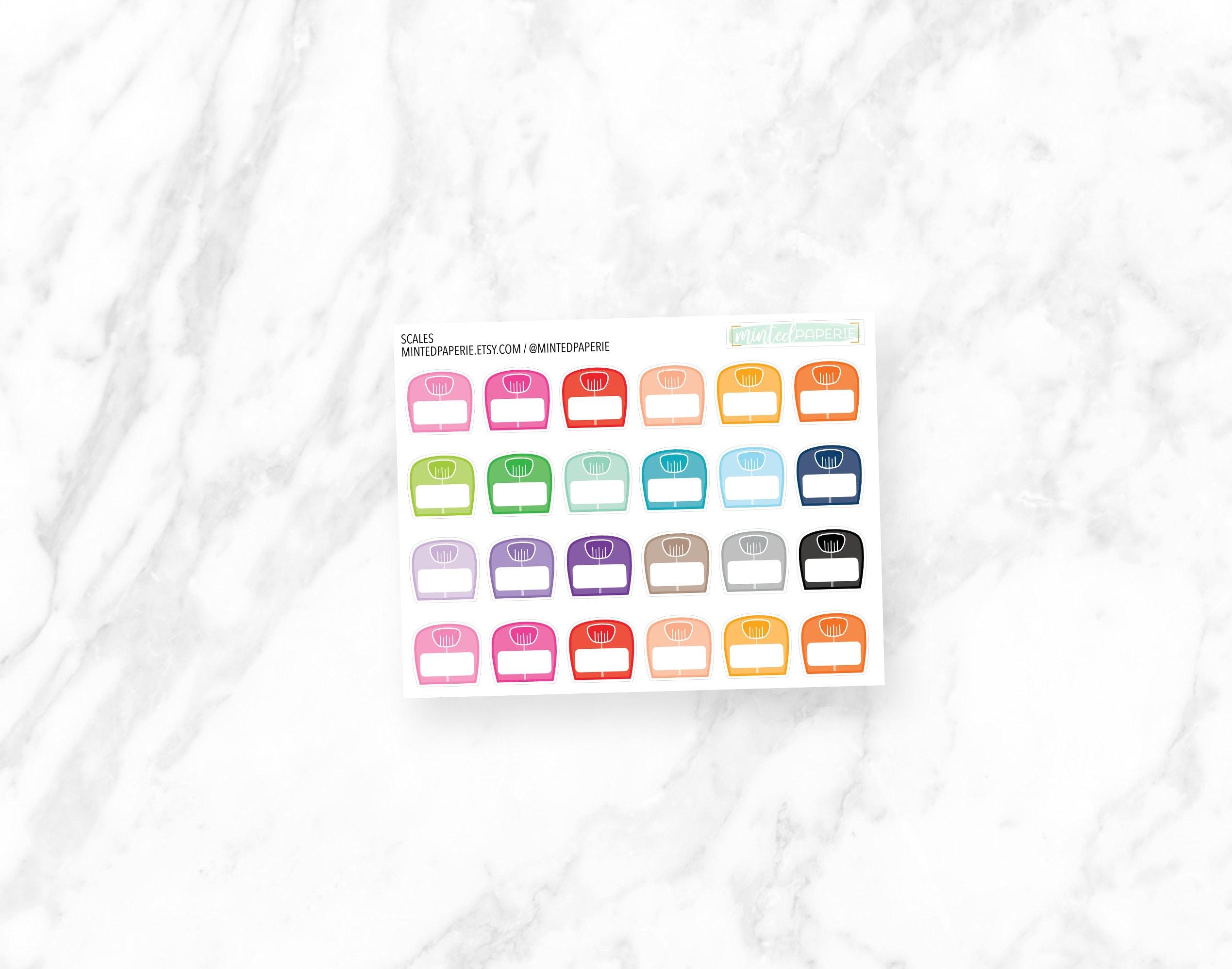 Waage Waage/Gewicht Tracking-Sticker | Etsy