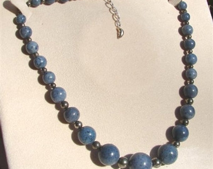 Blue Coral Necklace