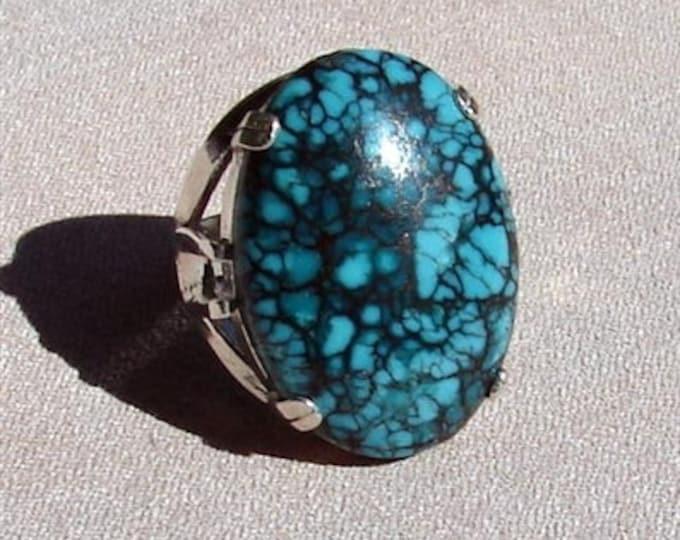 Large Turquoise Cabochon Ring