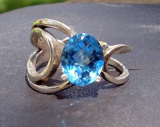 Concentric Blue Topaz Ring