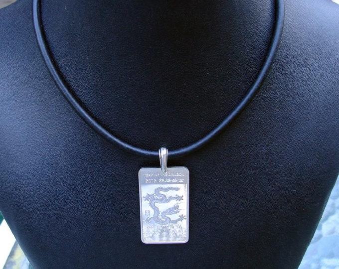 Half Ounce .999 Silver Bar Necklace