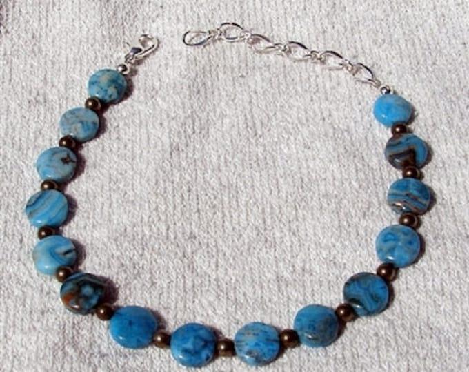 Larimar Blue Agate Anklet