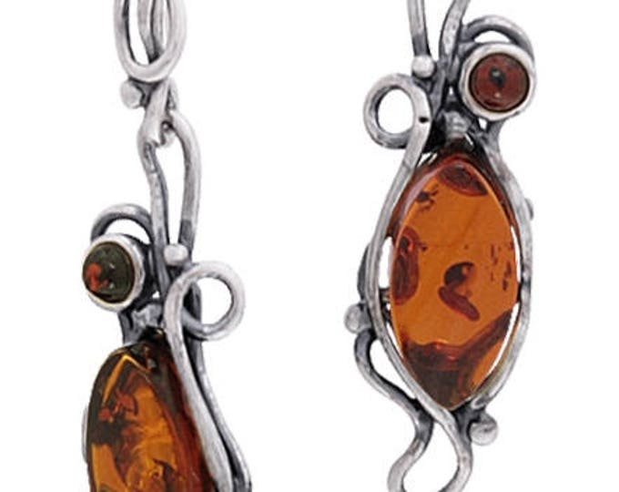 Amber Fancy Design Earrings