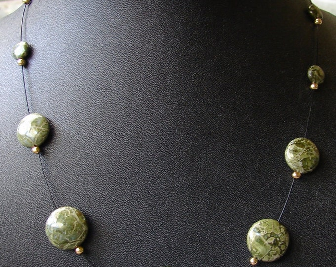 Green African Jasper Necklace