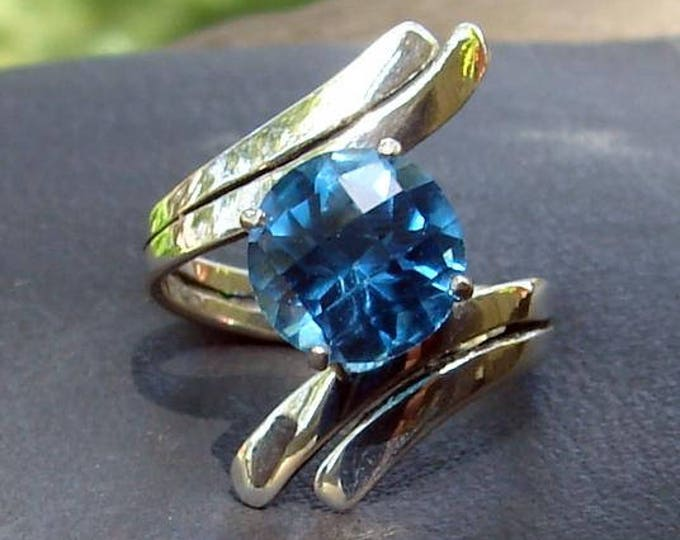 Blue Topaz Twist Ring